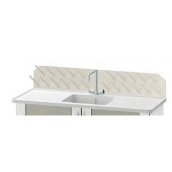 Опорный сушильный стеллаж (к столу-мойке) ЛАБ-PRO ОСС-14 80.40