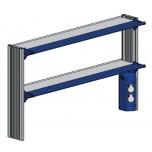 Стойка-стеллаж низкий, к пристенному столу ЛАБ-PRO СТПн 90.25.70