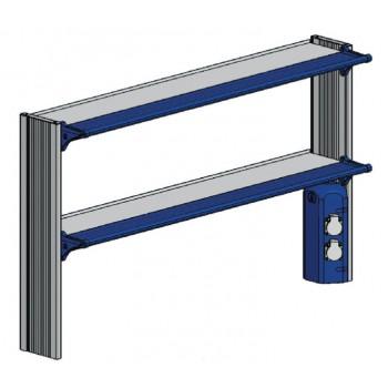 Стойка-стеллаж низкий, к пристенному столу ЛАБ-PRO СТПн 180.25.70