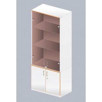 Шкаф с застекленным верхом ЛАБ-ОМ-04
