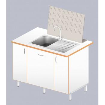 Стол-мойка ЛАБ-1200 МО (нерж. сталь/ламинат, глубина чаши 160мм)