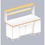 Стол пристенный физический с закрытой тумбой ЛАБ-1800 ПЛТ